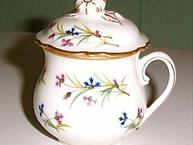 pillivuyt small floral pot de creme scalloped edge on cup lid