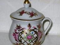 limoges white pot de creme pink and gold design