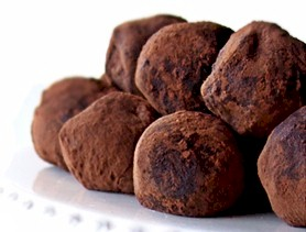Ancho Chile and Cinnamon Truffles