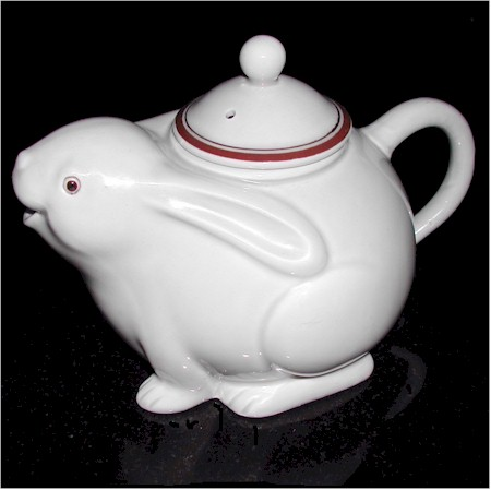 fitz and floyd bunny rabbit teapot