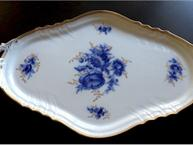 ginori blue and gold pot de creme set tray