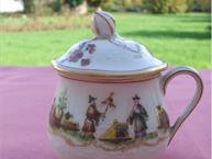 haviland-limoges-au-vase-etrusque- pot de creme cup