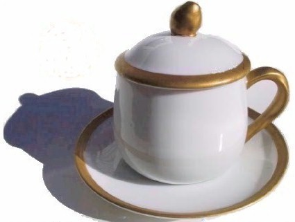 fitz and floyd pot de creme cup and saucer