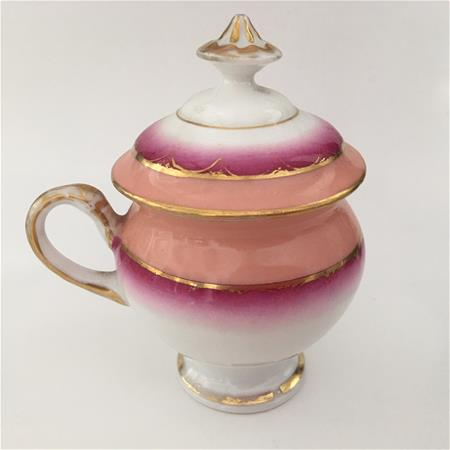 old paris pot de creme shades of pink left side view