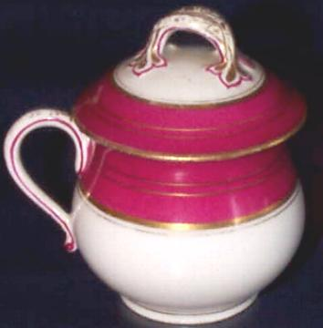 old paris magenta gold pot de creme side view