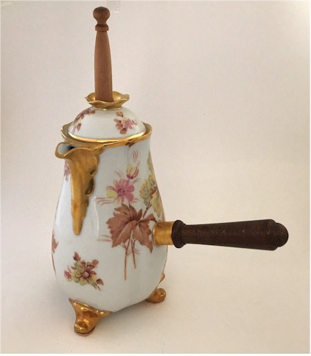paul pastaud limoges chocolate pot with stirrer