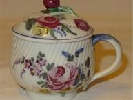 eighteenth century floral pot de creme cup side