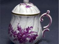 vienna purple boquet pot de creme cup side view