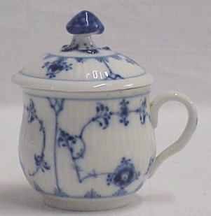 royal copenhage pot de creme cup and lid blue trim