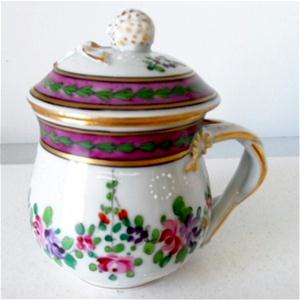 samson pink and gold floral pot de creme cup side view