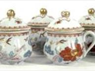 vista allegre tiffany pot de creme set of 8