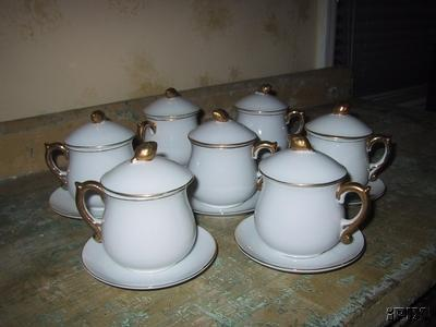 jcs pot de creme set with lids and saucers
