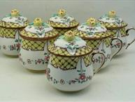yellow-hand-painted-pot-de-creme-set