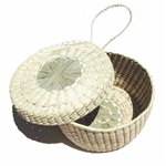 natural color woven basket