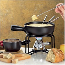 bon jour fondue pot with butane fuel source