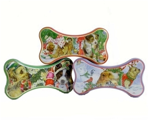 dog treat tins - set of 6