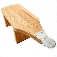 coconut grater wood stool