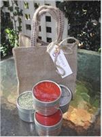 mexican spice kit in burlap tote