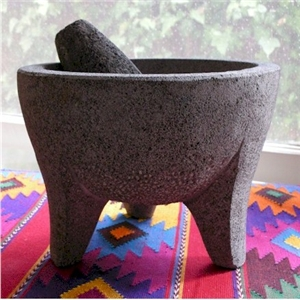 smooth stone molcajete plain style