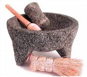 "molcajete y tejolote lava stone  8"" 2 1/2 to 3 cup"