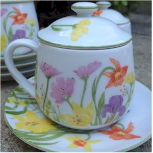 day lily pot de creme set 10