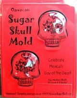 "day of the dead oaxacan sugar skull molds 3"" double"