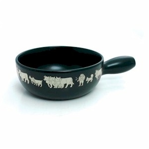 caquelon swiss cheese fondue (pot only) black cow