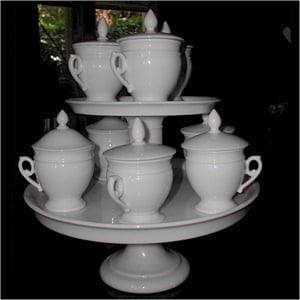 French Pot De Creme Set 8 Cups With Stand Buy
