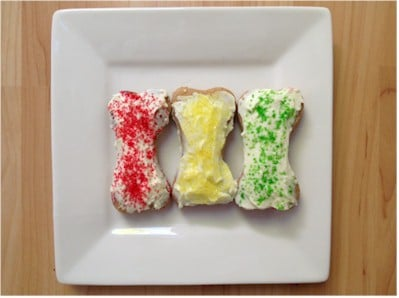 Decorated Frosted Dog Treats
