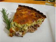 Bacon and Green Chile Quiche