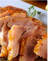 baked spring ham with apricot glaze sm