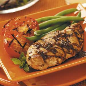 basil chicken with green beans