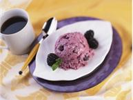 Blackberry-Chocolate Frozen Yogurt