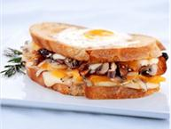 Mushroom Onion Cheddar And Egg Grilled Cheese