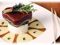 Blackened Ahi with Soy-Mustard Sauce