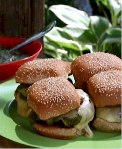 Image of Green Chili Cheeseburgers, Gourmet Sleuth