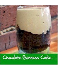 Chocolate Guinness Cake With Irish Cream Sabayon