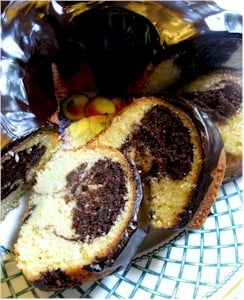 chocolate marble bundt cake