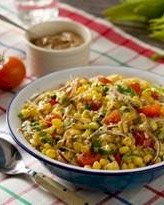 Image of Fresh Summer Corn Salad With Creamy Italian Vinaigrette, Gourmet Sleuth