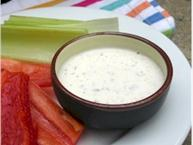creamy italian dressing with fresh vegetables