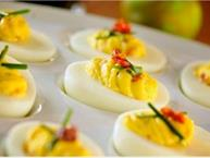 Sun Dried Tomato & Chive Deviled Eggs