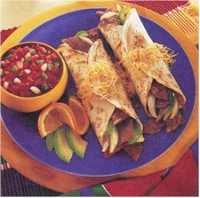 fajitas with salsa
