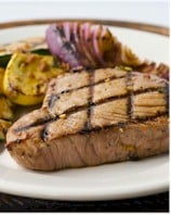 Image of Asian Grilled Tuna With Baby Zucchini, Squash & Onions, Gourmet Sleuth