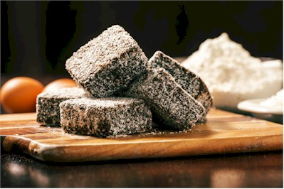 lamingtons on plate