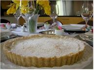 lemon almond tart