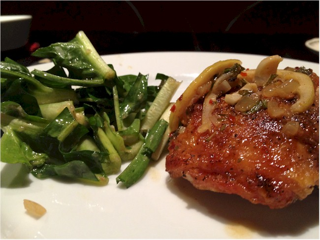 lemon chicken with puntarelle