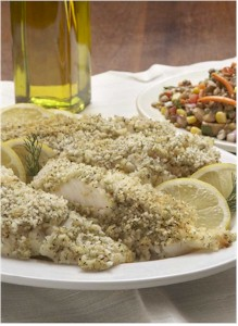 lemon cod crunch fillets