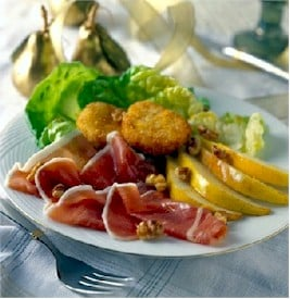 prosciutto and pears