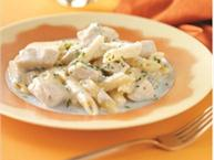 penne pasta with gorgonzola and chicken