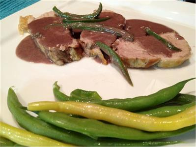 pork tenderloin with stilton and port